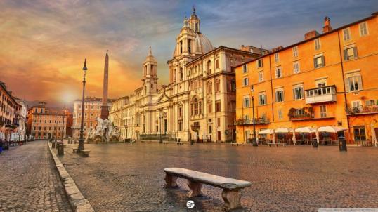 Roma-al-tramonto